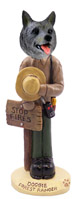 Norwegian Elkhound Forest Ranger Doogie Collectable Figurine