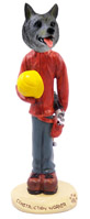 Norwegian Elkhound Construction Worker Doogie Collectable Figurine
