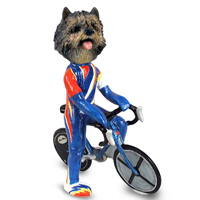 Cairn Terrier Brindle Bicycle Doogie Collectable Figurine