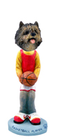 Cairn Terrier Brindle Basketball Doogie Collectable Figurine