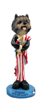 Cairn Terrier Brindle 4th of July Doogie Collectable Figurine