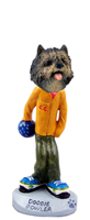 Cairn Terrier Brindle Bowler Doogie Collectable Figurine