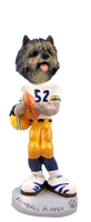Cairn Terrier Brindle Football Player Doogie Collectable Figurine