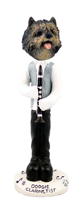 Cairn Terrier Brindle Clarinetist Doogie Collectable Figurine