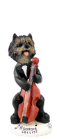 Cairn Terrier Brindle Cellist Doogie Collectable Figurine