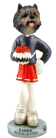 Cairn Terrier Brindle Cheerleader Doogie Collectable Figurine