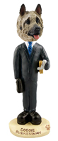 Akita Fawn Businessman Doogie Collectable Figurine