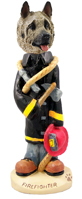 Akita Fawn Fireman Doogie Collectable Figurine