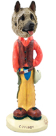 Akita Fawn Cowboy Doogie Collectable Figurine