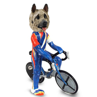 Akita Fawn Bicycle Doogie Collectable Figurine
