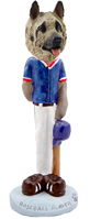 Akita Fawn Baseball Doogie Collectable Figurine