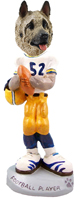 Akita Fawn Football Player Doogie Collectable Figurine