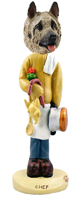 Akita Fawn Chef Doogie Collectable Figurine