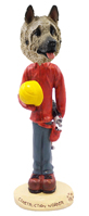 Akita Fawn Construction Worker Doogie Collectable Figurine