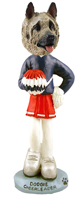 Akita Fawn Cheerleader Doogie Collectable Figurine