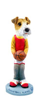 Wire Fox Terrier Red Basketball Doogie Collectable Figurine