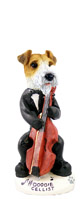 Wire Fox Terrier Red Cellist Doogie Collectable Figurine