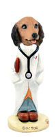 Dachshund Longhaired Red Doctor Doogie Collectable Figurine