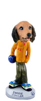 Dachshund Longhaired Red Bowler Doogie Collectable Figurine
