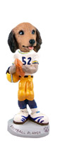 Dachshund Longhaired Red Football Player Doogie Collectable Figurine