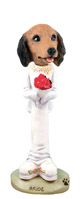 Dachshund Longhaired Red Bride Doogie Collectable Figurine