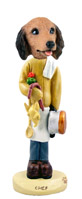 Dachshund Longhaired Red Chef Doogie Collectable Figurine