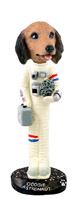 Dachshund Longhaired Red Astronaut Doogie Collectable Figurine