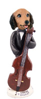 Dachshund Longhaired Red Bassist Doogie Collectable Figurine