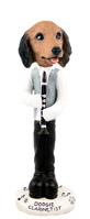 Dachshund Longhaired Red Clarinetist Doogie Collectable Figurine