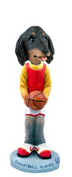 Dachshund Longhaired Black  Basketball Doogie Collectable Figurine