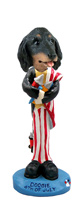 Dachshund Longhaired Black  4th of July Doogie Collectable Figurine