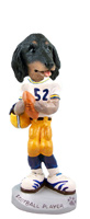 Dachshund Longhaired Black  Football Player Doogie Collectable Figurine