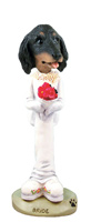 Dachshund Longhaired Black  Bride Doogie Collectable Figurine