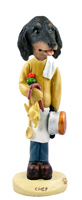 Dachshund Longhaired Black  Chef Doogie Collectable Figurine