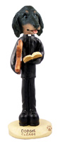 Dachshund Longhaired Black  Clergy Doogie Collectable Figurine
