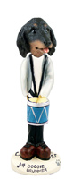 Dachshund Longhaired Black  Drummer Doogie Collectable Figurine