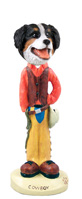 Bernese Mountain Dog Cowboy Doogie Collectable Figurine