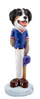 Bernese Mountain Dog Baseball Doogie Collectable Figurine