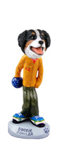 Bernese Mountain Dog Bowler Doogie Collectable Figurine