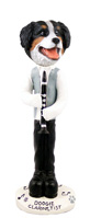 Bernese Mountain Dog Clarinetist Doogie Collectable Figurine