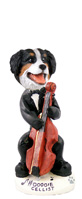 Bernese Mountain Dog Cellist Doogie Collectable Figurine