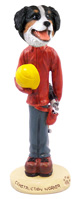 Bernese Mountain Dog Construction Worker Doogie Collectable Figurine