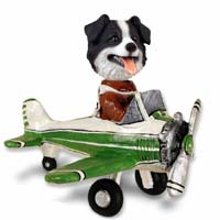 Border Collie Airplane Doogie Collectable Figurine