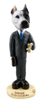 Pit Bull White Businessman Doogie Collectable Figurine