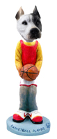 Pit Bull White Basketball Doogie Collectable Figurine