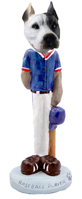 Pit Bull White Baseball Doogie Collectable Figurine