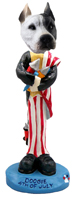 Pit Bull White 4th of July Doogie Collectable Figurine