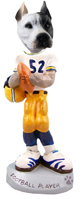 Pit Bull White Football Player Doogie Collectable Figurine