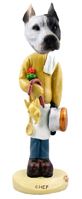 Pit Bull White Chef Doogie Collectable Figurine