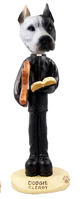 Pit Bull White Clergy Doogie Collectable Figurine
